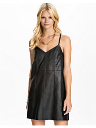 River Island Leather Slip Dress