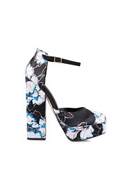 River Island Closed Toe Ankle Strap Block Heel Court