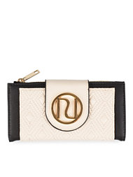 River Island Quilted Tab Foldover Purse