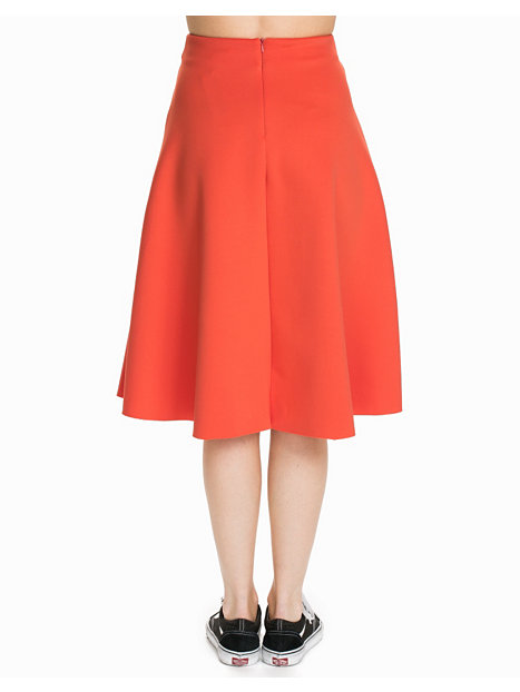 Zip Pocket Full Midi Skirt
