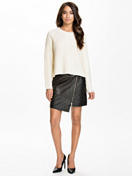 River Island Leather Wrap Skirt