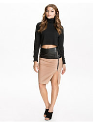 River Island Leather Pencil Skirt