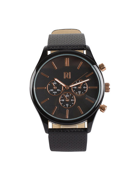 pu perf river island gold watches