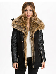 River Island Bronx Fur Front Casual Jacket