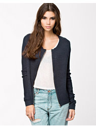 Jacqueline de Yong Madison Knit Zip Cardigan