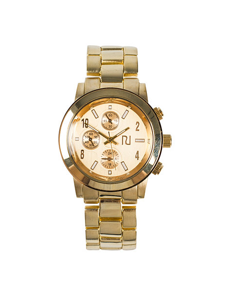 emily metal river island gold watches