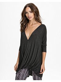 Puserot, LS Drape Top, River Island - NELLY.COM