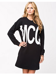 Alexander Mcqueen Ribless Sweatshirt Dress