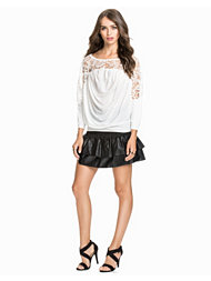 Notion 1.3 Faux Leather Frill Skirt
