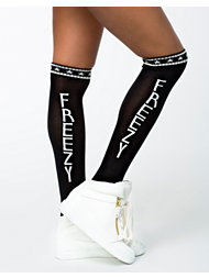 Noisy May Jenner Text Sock Freezy