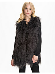 Noisy May Peppy Fake Fur Waistcoat
