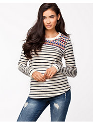 Fornarina Lona Blue Cotton Sweater