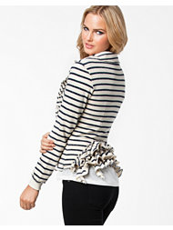 Fornarina Mercy Stripes Blue Cotton Sweater