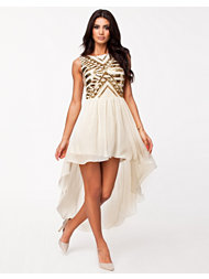 Oneness High Low Beaded Dress