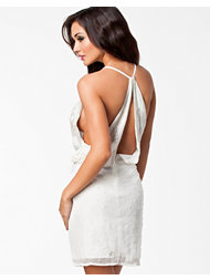 NLY Eve Pearl Drop Back Dress