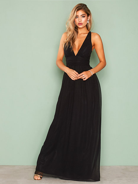 Empire Cross Back Dress - Nly Eve - Black - Party Dresses ...