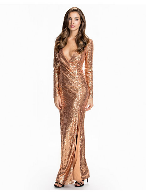 champagne sequin dress long sleeve « Bella Forte Glass Studio