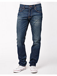 Nudie Jeans Steady Eddie Org. Whistle Blue