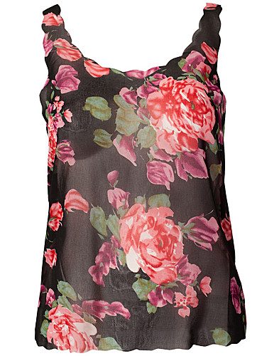 TOPPE - AX PARIS / FLORAL SCALLOP TOP - NELLY.COM