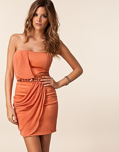 PARTY DRESSES - AX PARIS / CHIFFON OVER LAY JEWEL DRESS - NELLY.COM