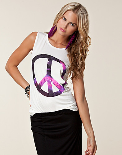 TOPS - AX PARIS / PEACE GALAXY PRINT TOP - NELLY.COM