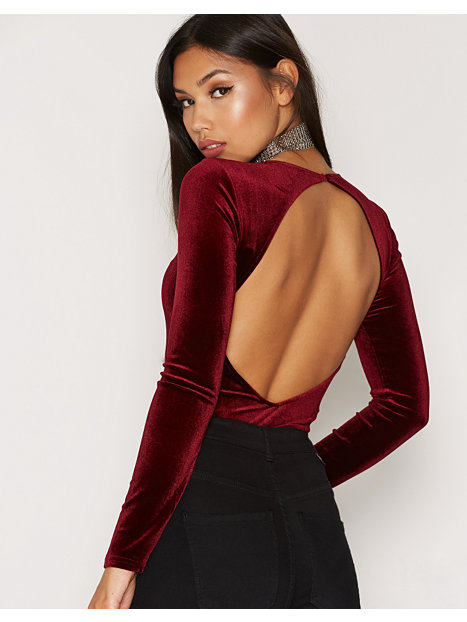 Open Back Velvet Body