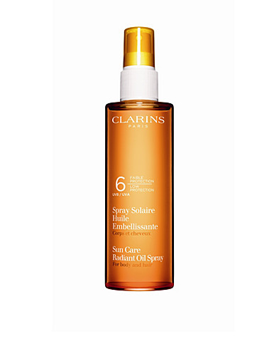 AURINKOTUOTTEET - CLARINS / RADIANT OIL SPRAY UVB 6 - NELLY.COM