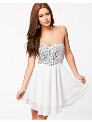 Te Amo Jewelled Sweetheart Dress