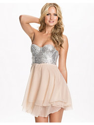 Te Amo Jewelled Bustier Chiffon Dress