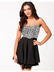 Te Amo Jewel Bustier Chiffon Skater Dress