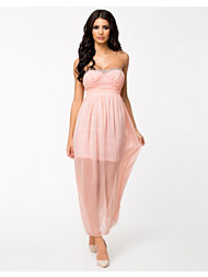 Te Amo Ruched Trim Maxi Dress