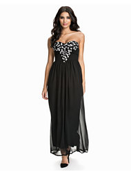 Te Amo Deep V Embellished Bustier Maxi Dress