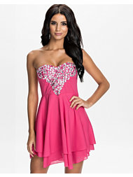 Te Amo Deep V Sweetheart Dress