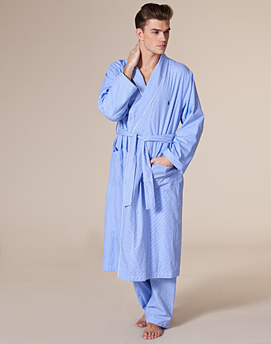 NIGHTWEAR - RALPH LAUREN / SHAWL COLLAR ROBE - NELLY.COM