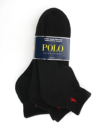STRUMPOR - RALPH LAUREN / SOCK 3-PACK QUARTER - NELLY.COM