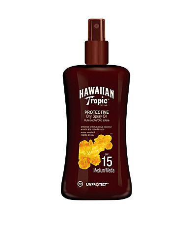ZONNEBRANDPRODUCTEN - HAWAIIAN TROPIC / DRY CARROT SPRAYOIL SPF15 - NELLY.COM