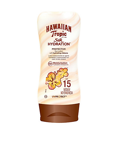AURINKOTUOTTEET - HAWAIIAN TROPIC / SILK HYDRATION LOTION SF15 - NELLY.COM