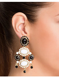 NLY Accessories Black & White Earrings