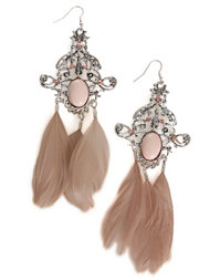 Nelly Accessories - Feather Fish Hook Earring