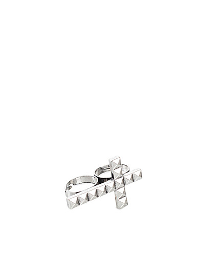 JEWELLERY - NLY ACCESSORIES / CROSS DOUBLE RING - NELLY.COM