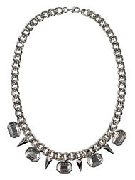 NLY Accessories Stone Chain Necklace