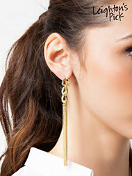 NLY Accessories Mixed Chain Earrings