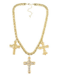 NLY Accessories Heavy Cross Necklace
