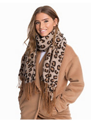 NLY Accessories Knitted Leopard Scarf