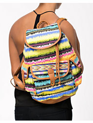 NLY Accessories Sidepocket Aztec Backpack