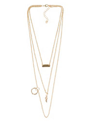 NLY Accessories Tripple Chain Necklace