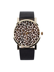 NLY Accessories Leopard Retro Watch