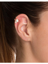 NLY Accessories Double Pearl Ear Cuff