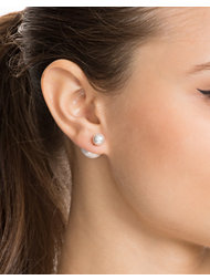 NLY Accessories Double Pearl Earring
