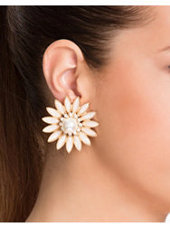 NLY Accessories Flower Pearl Earrings